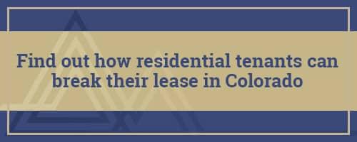Breaking a Lease in Colorado